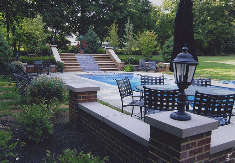 Before and after projects refined outdoor living for Pool design mcmurray pa